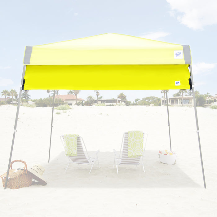 E-Z UP HW3LA10ALGY 10-Foot Angle Leg Recreational Shelter Half Wall, Limeade
