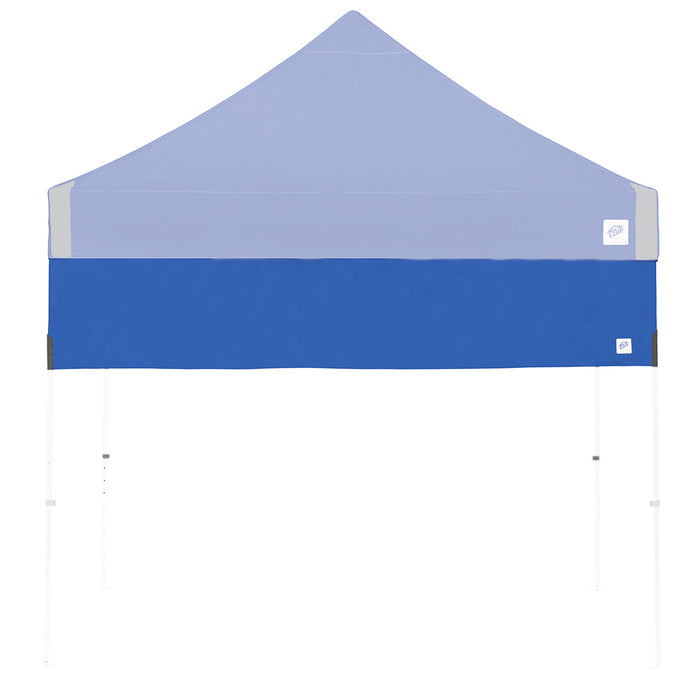 E-Z UP HW3RB10SLGY 10-Foot Fabric Straight Leg Shelter Half Wall, Royal Blue