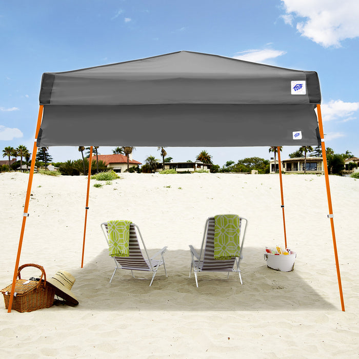 E-Z UP HW3SG10ALGY 10-Foot Angle Leg Recreational Shelter Half Wall, Steel Gray