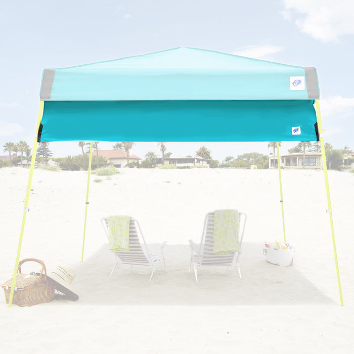 E-Z UP HW3SP10ALGY 10-Foot Angle Leg Recreational Shelter Half Wall, Splash