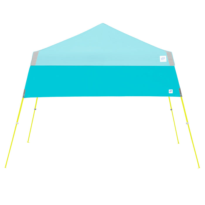 E-Z UP HW3SP8SALGY 8-Foot Angle Leg Recreational Shelter Half Wall, Splash