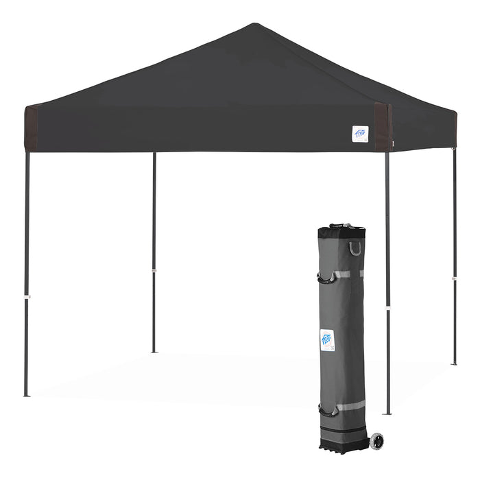 E-Z UP PR3SG10BK 10 x 10-Foot Pyramid Instant Shelter Canopy, Black/Steel Gray