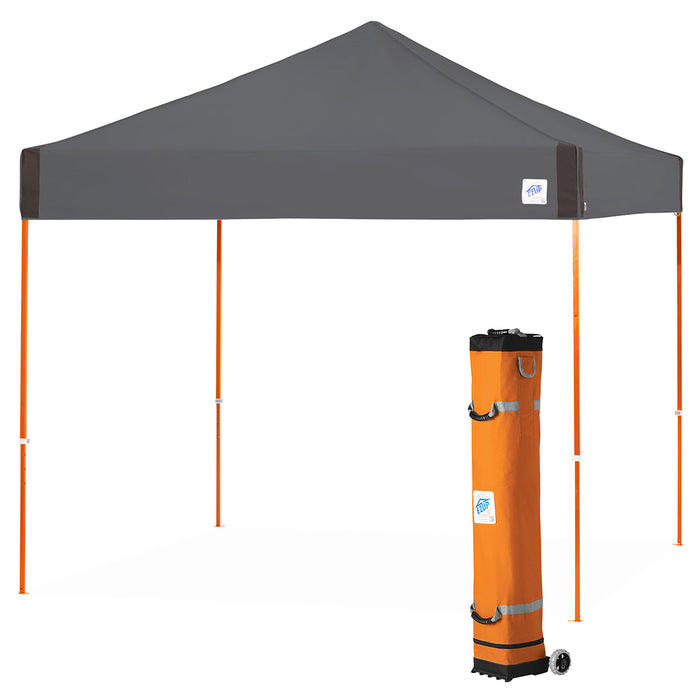 E-Z UP PR3SO10SG 10 x 10-Foot Pyramid Shelter Canopy, Steel Gray/Steel Orange