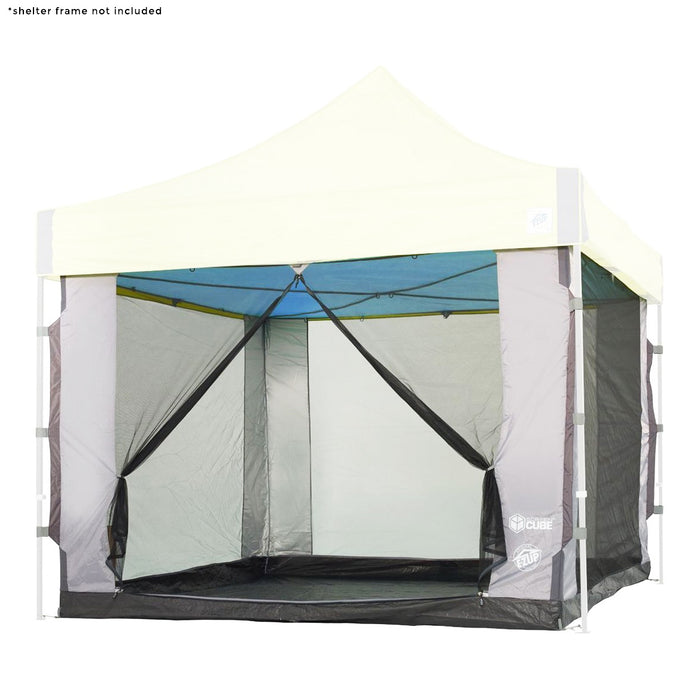E-Z Up SC10SLGY 10-Foot x 10-Foot 6.4 Straight Leg Bug-Proof Screen Cube - Gray