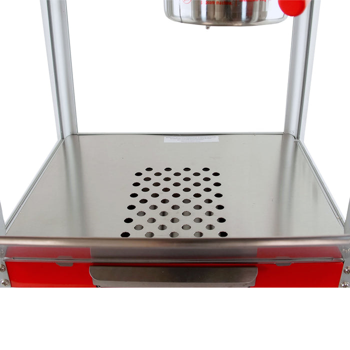 FunTime FT421CR 4oz Red Bar Table Top Popcorn Popper Maker Machine