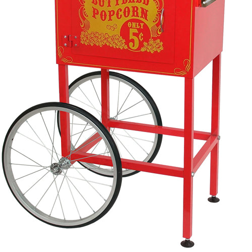 FunTime 8oz Premium Red Silver Popcorn Popper Machine Maker Cart FT860CRS