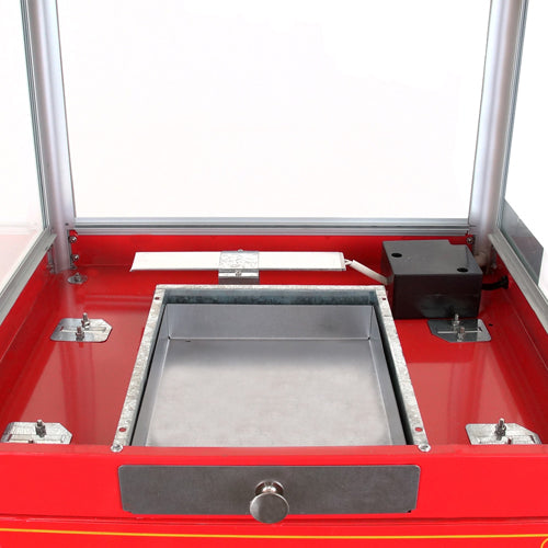 FunTime FT860CRS 8oz Premium Red Silver Popcorn Popper Machine Maker Cart