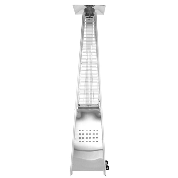 "Garden Radiance GRP3500SS ""Dancing Flames"" Stainless Steel Pyramid Patio Heater"