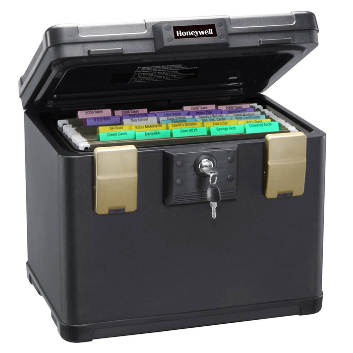 Honeywell 1106W 0.60 cu/ft Dual File Chest Wheel Safe Box Cart - Medium