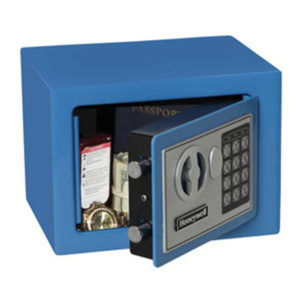 Honeywell 5005B 0.17 cu/ft Blue Storage Security Safe w/ Digital Lock - Small