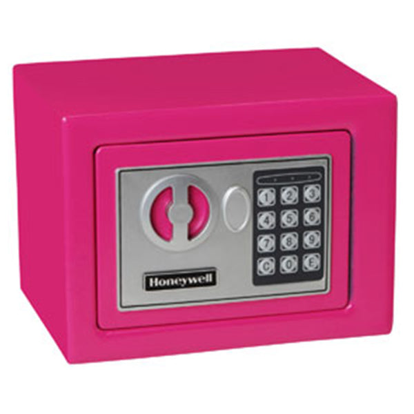 Honeywell 5005P 0.17 cu/ft Pink Storage Security Safe w/ Digital Lock - Small