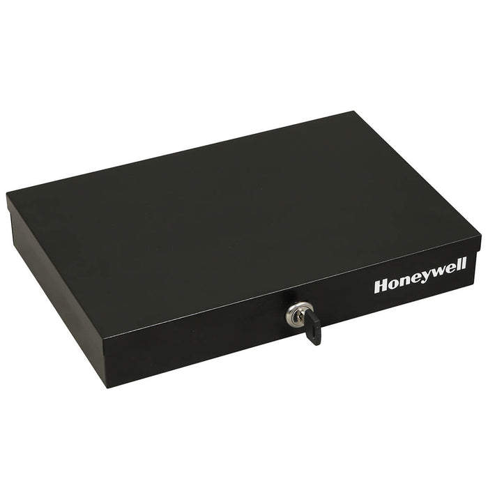 Honeywell 6212 Steel Removable Tray Thin Low Profile Cash Box w/ Key Lock