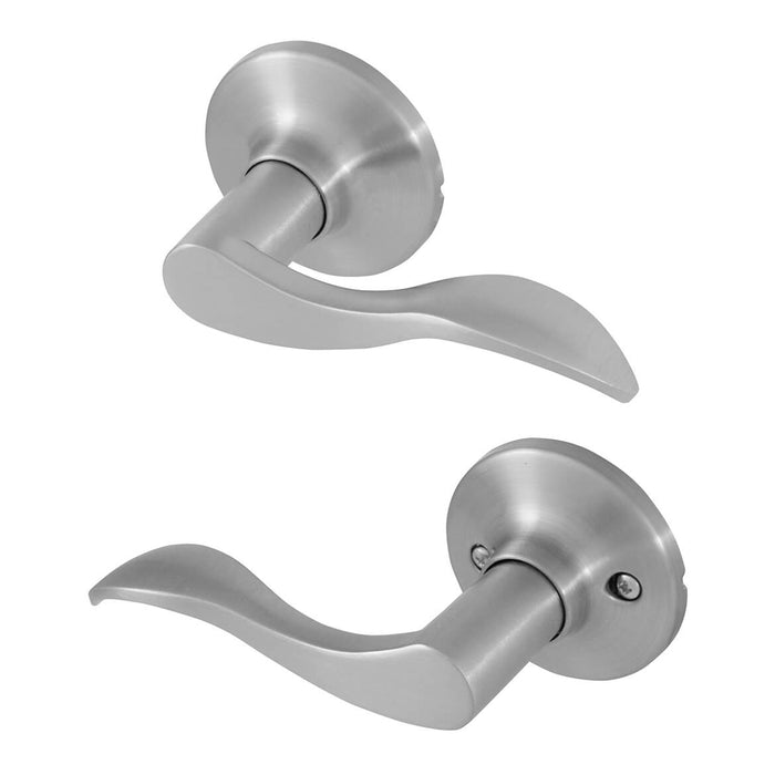 Honeywell 8106303 Wave Passage Non-Locking Door Lever - Satin Nickel