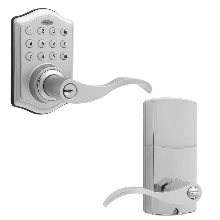 Honeywell 8734301 Electronic Entry Keypad Lever Door Lock -Satin Nickel