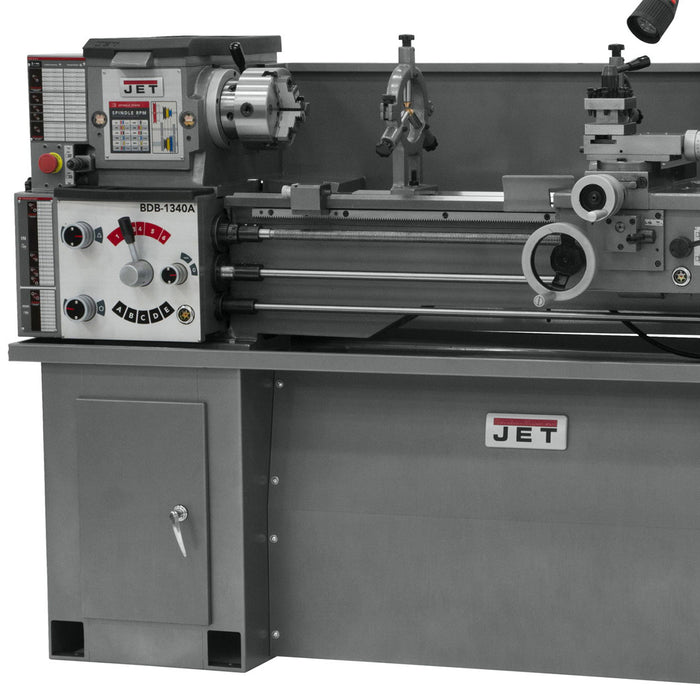 JET GHB-1340A 2-Hp 230V Geared Head Bench Lathe w/ CBS-1340A Stand - 321101AK