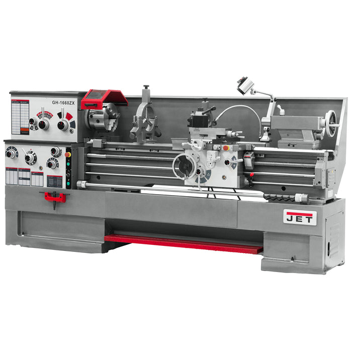 "JET GH-1640ZX 7-1/2-Hp 230/460V 3-1/8"" Durable Spindle Bore Geared Head Lathe"