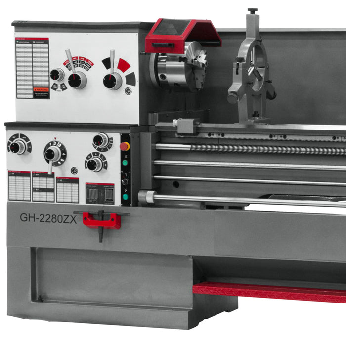 "JET GH-2280ZX 10-Hp 230/460V 3-1/8"" Durable Spindle Bore Geared Head Lathe"