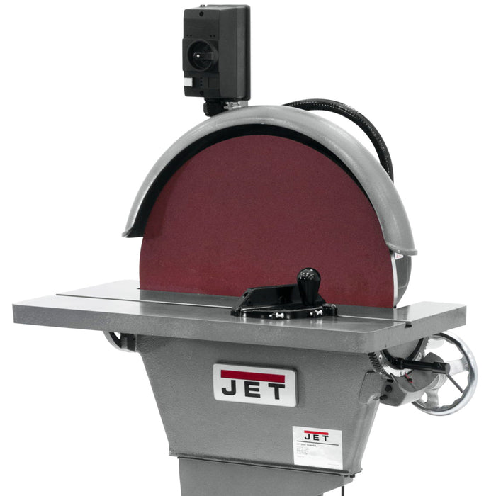 "JET 577010 J-4421-2 3-Hp 220V 20"" Heavy Duty Large Surface Disc Grinder"