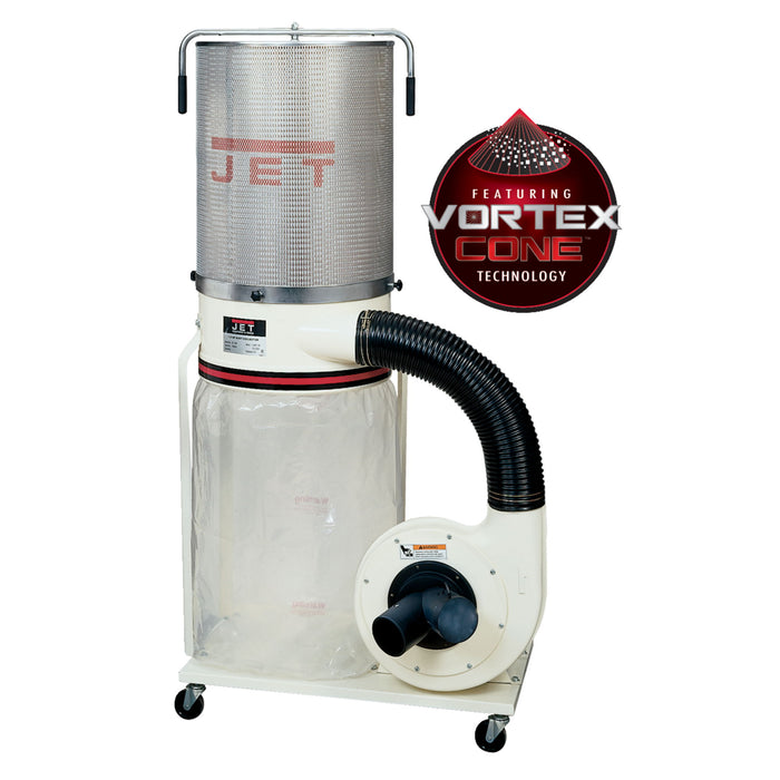 JET DC-1200VX-CK1 2HP 230V Heavy Duty Dust Collector 2-Micron Canister Kit