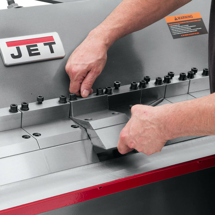"JET BPF-1248 48"" x 12"" Gauge Bench Floor Model Box w/ Pan Brake"