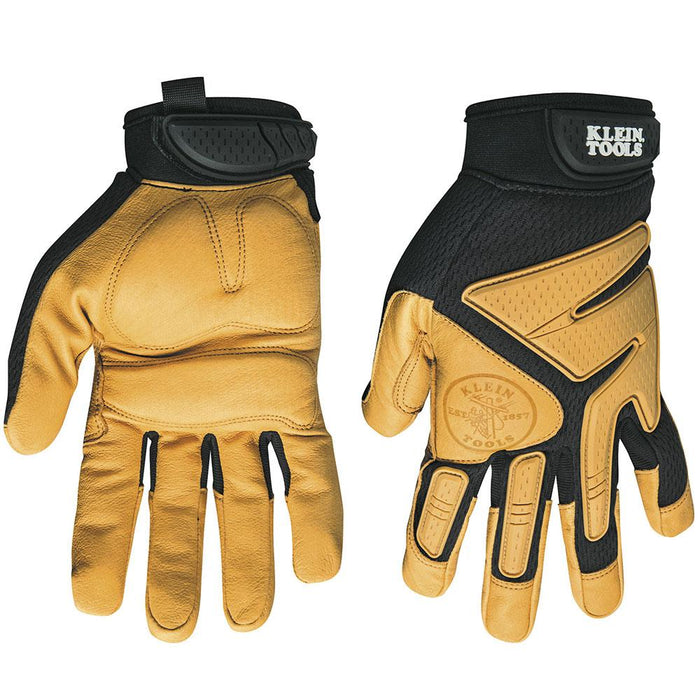 Klein 40222 Tan Journeyman Outdoor/Work Leather Gloves - X-Large