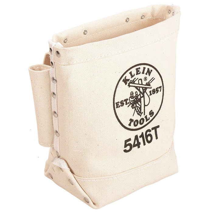 Klein 5416T Belt Connect Double Bottom Canvas Tunnel Loop Bull-Pin and Bolt Bag