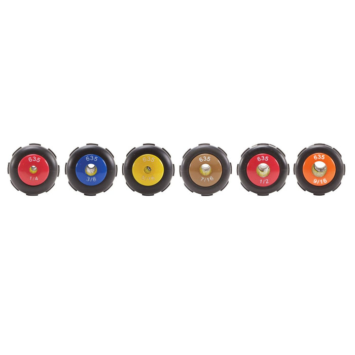 Klein 6356 Heavy-Duty Color Coded Wrench Assist Nut Driver Set - 6pc