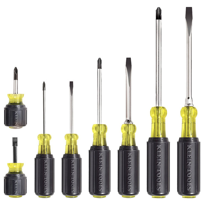 Klein 85078 Exact Fit Chrome-Plated Cushion-Grip Screwdriver - 8 pc