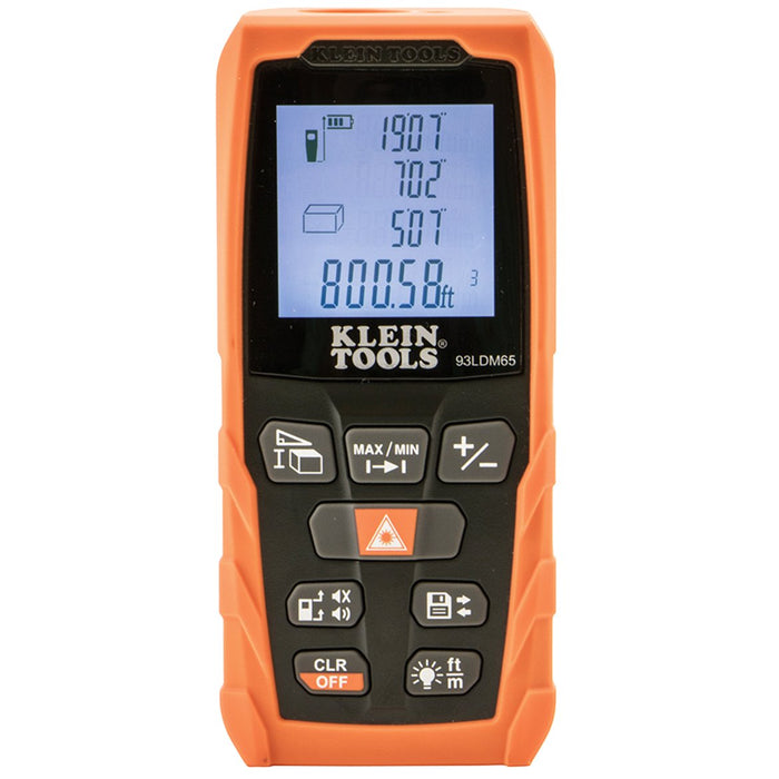 Klein 93LDM65 Highly Visible Backlit 65-Foot Laser Distance Measurer