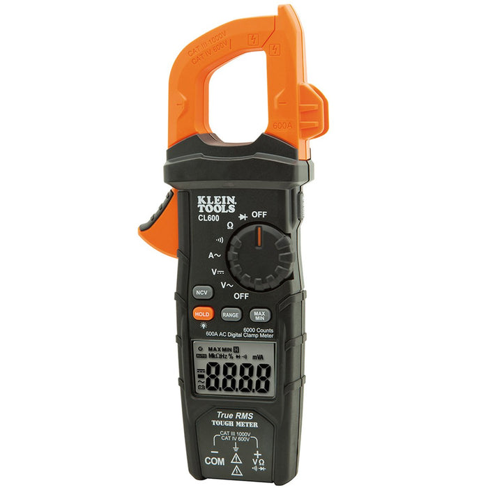 Klein CL600 AC Auto-Ranging 600 Amp Auto Range True Mean Digital Clamp Meter