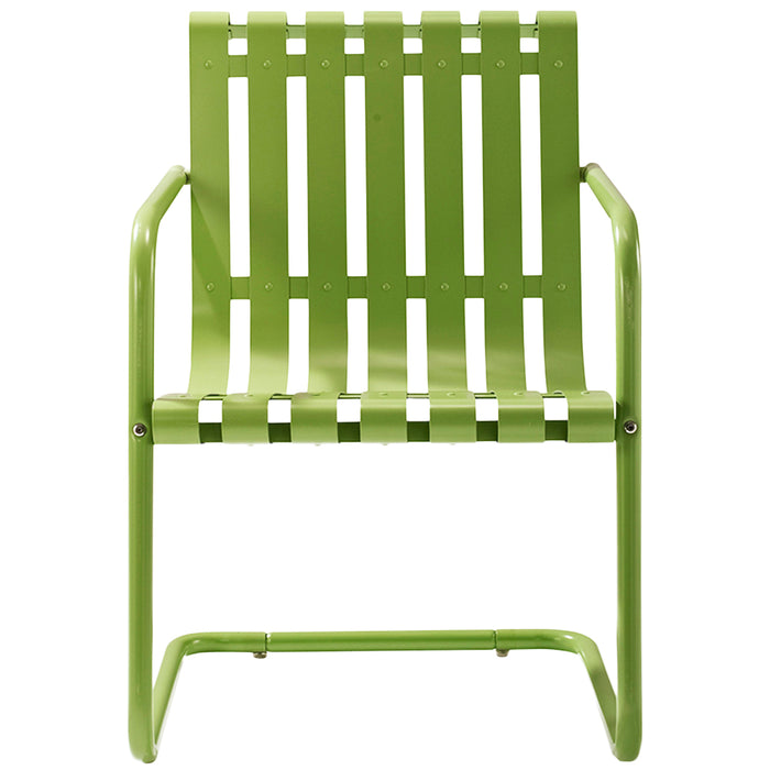 Crosley KO10007GR 3-Piece Gracie Metal Outdoor Seating Set - Oasis Green