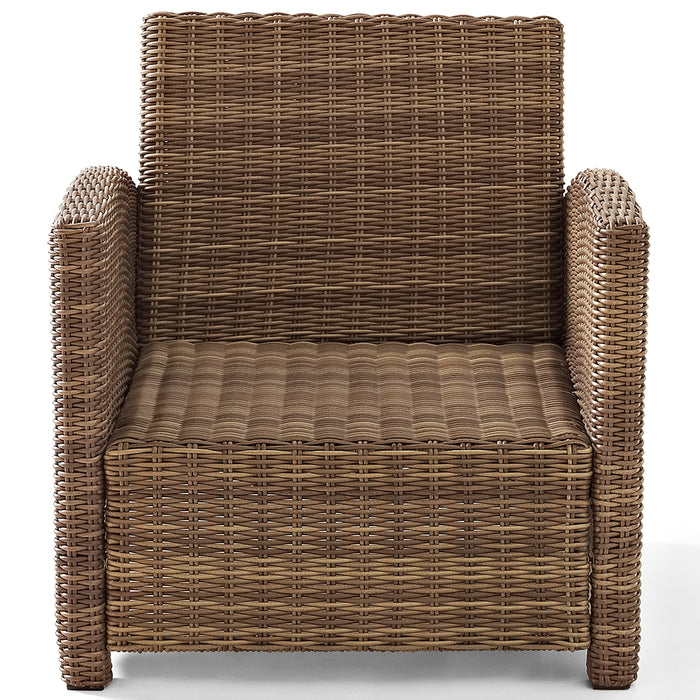 Crosley KO70023WB-NV Bradenton Rattan Style Outdoor Wicker Arm Chair - Navy