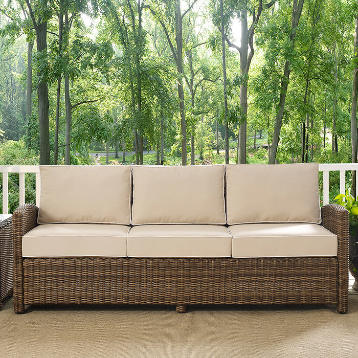 Crosley KO70049WB-SA Bradenton Durable Steel Frame Sofa with Sand Cushions