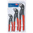 Knipex 00 20 06 US1 7, 10, and 12-Inch Self-Locking Cobra Pliers Set - 3pc