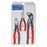 Knipex 00 20 08 US1 Snipe Nose, Diagonal Cutter and Alligator Pliers Set - 3pc