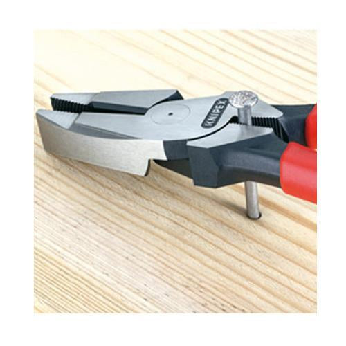 Knipex 09 11 240 9-1/2-Inch High Leverage Linesman Tape Puller and Crimper