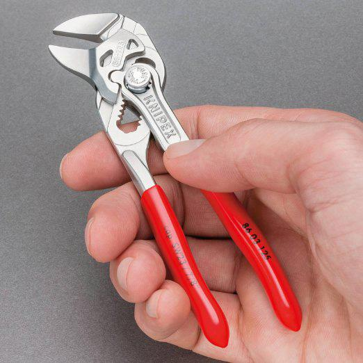 Knipex 86 03 125 5-Inch 125-mm Chrome Adjustable Mini Pliers Wrench