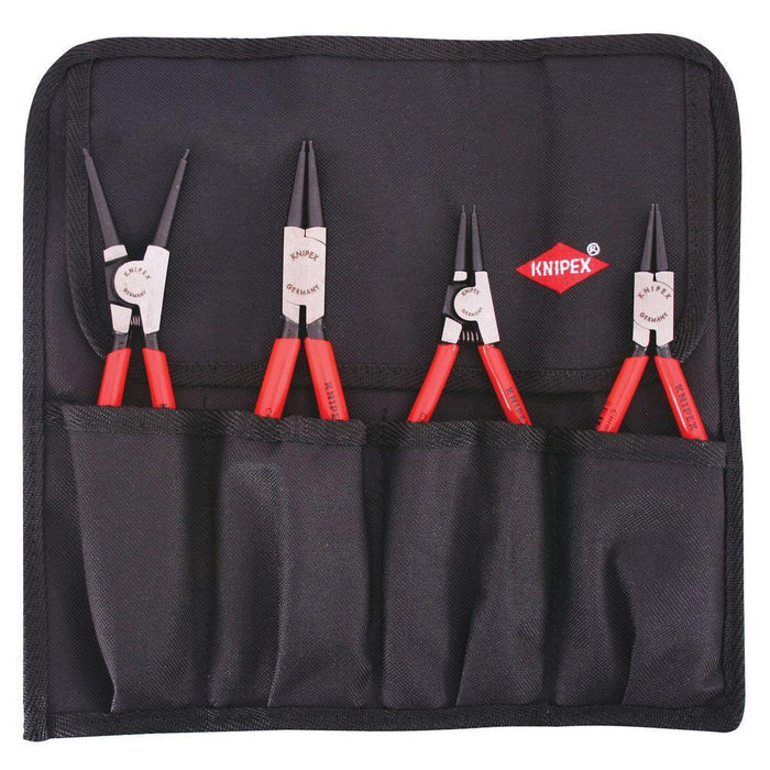 Knipex 9K 00 19 51 US Chrome In/External Circlip Snap-Ring Set and Pouch - 4pc