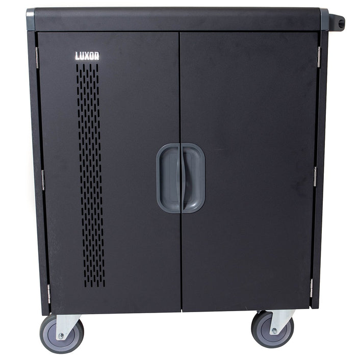 Luxor LLTS32-B 32 Chromebook/Laptop/Tablet Smart Charging Unit Cart