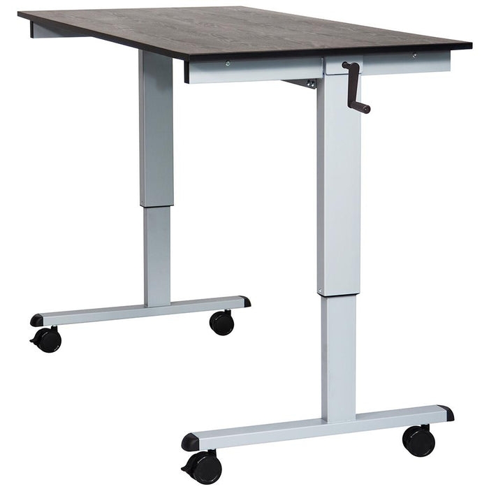 Luxor STANDCF60-AG/BO 60-Inch Steel Mobile Crank Adjustable Stand Up Desk