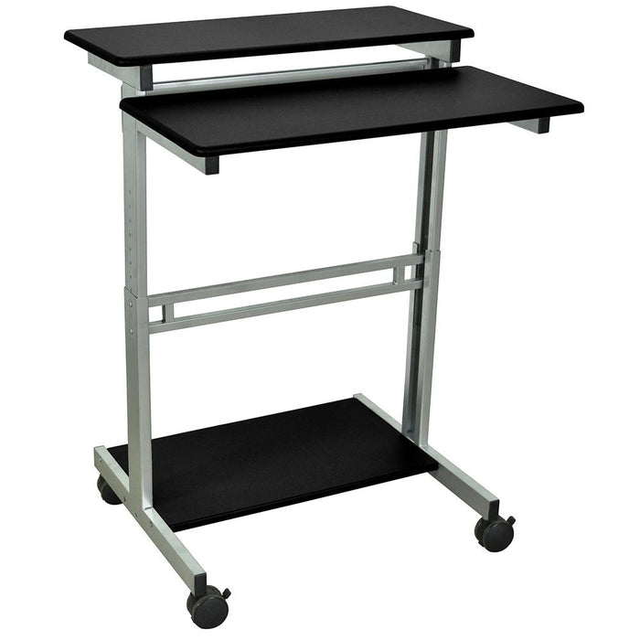 Luxor STANDUP-31.5-B 31.5-Inch Black Adjustable Standing Roll Workstation