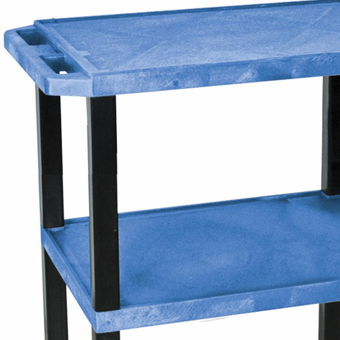 Luxor WT34BUS 24 x 18-Inch Blue Three Shelf Specialty Utility Cart