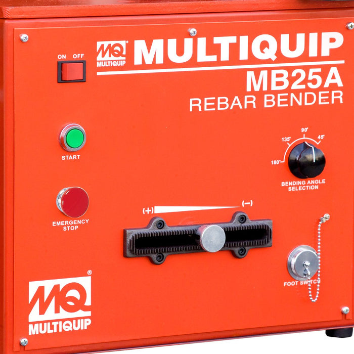 Multiquip MB25A 115-Volt Single Phase Electric Motor Portable Rebar Bender