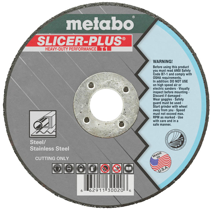 Metabo 6 x .045 x 7/8-Inch A60TX Type 1 Slicer Plus Cutting Wheel - 50pk