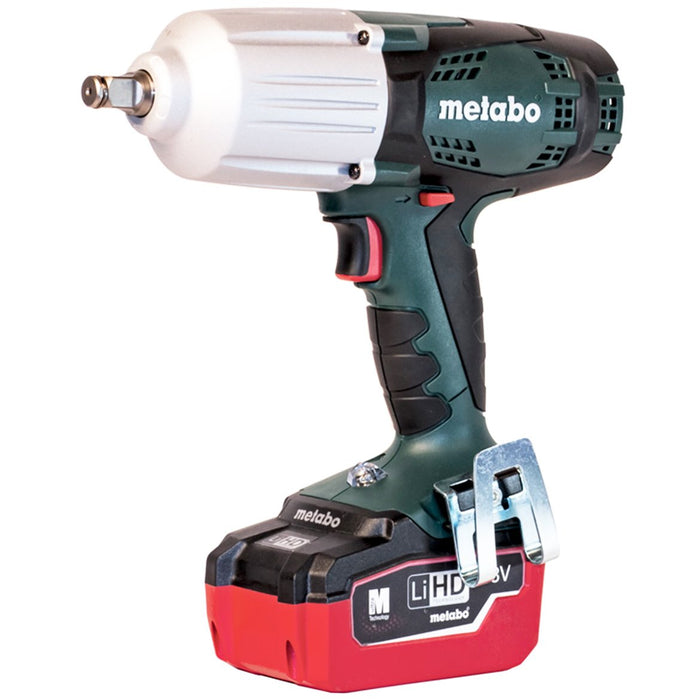 Metabo US602198550 18-Volt 1/2-Inch Square 5.5Ah LiHD Cordless Impact Wrench Kit