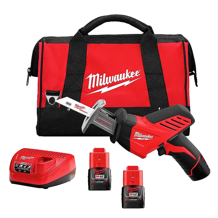 Milwaukee 2420-22 M12 12V HACKZALL Reciprocating Saw w/ Batteries