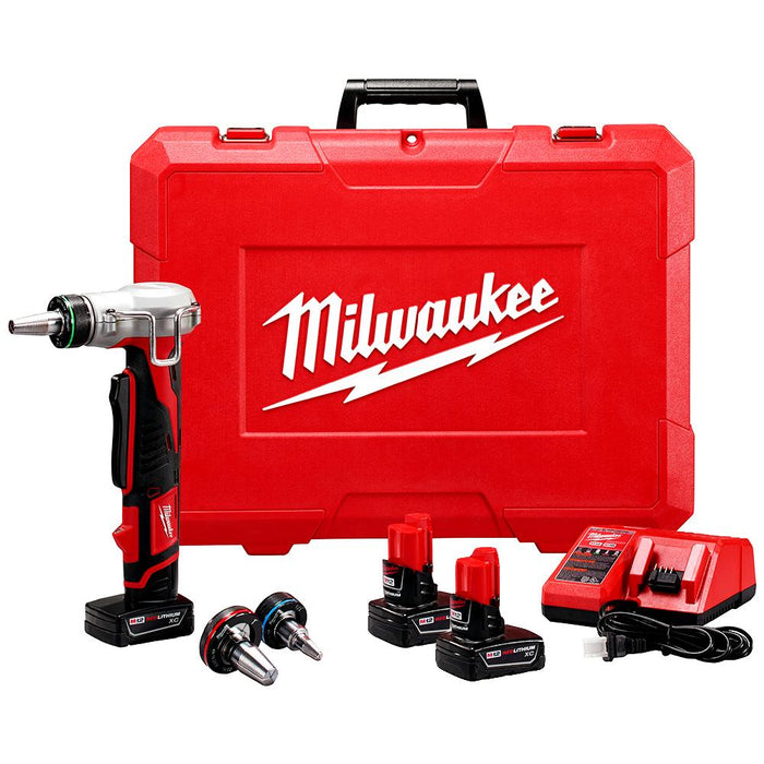 Milwaukee 2432-22XC M12 12-Volt Propex Expansion Tool w/ Batteries