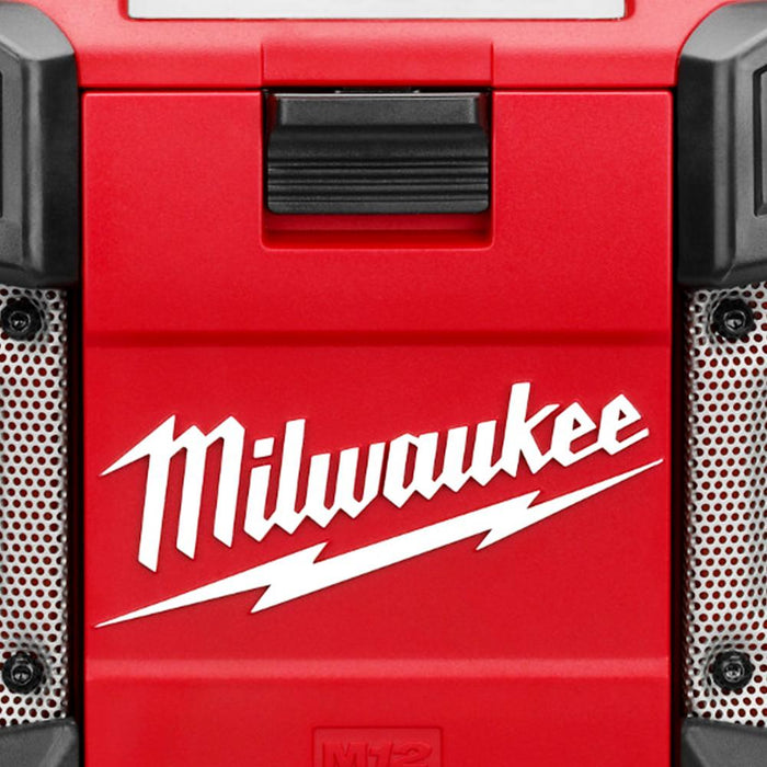 Milwaukee 2590-20 M12 12-Volt MP3 Compatible Shock Absorbing Radio - Bare Tool
