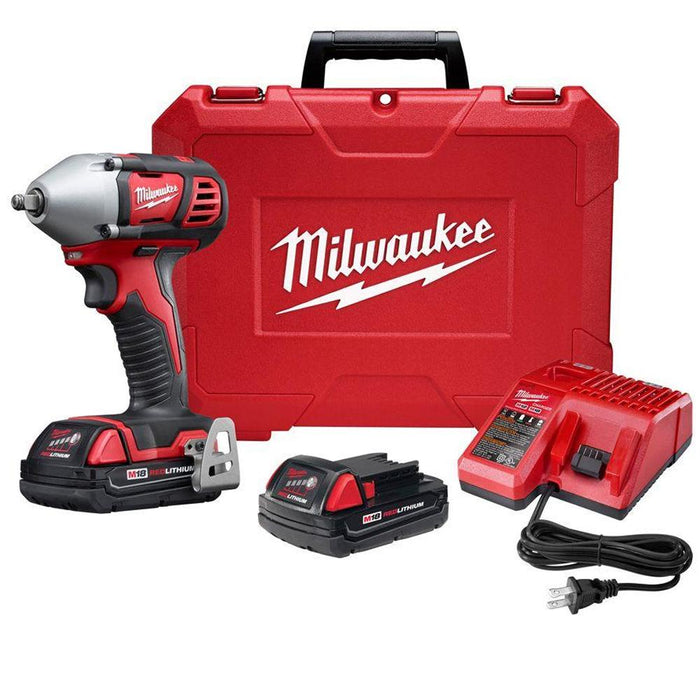 Milwaukee 2658-22CT M18 18-Volt 3/8-Inch Impact Wrench w/ Batteries