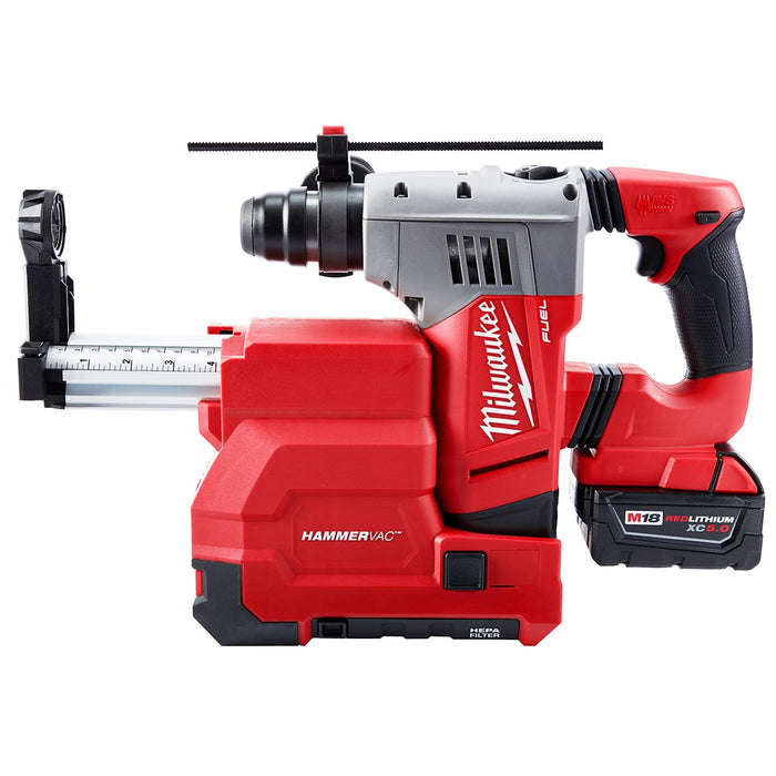 "Milwaukee 2715-22DE M18 FUEL 18V 1-1/8"" SDS Plus Rotary Hammer w/ Batteries"